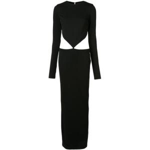 haider-ackermann-waist-cut-out-maxi-dress-women-spandexelastaneviscose-m-black